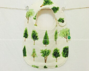 Tree Baby Bib - Handmade, 100% Cotton, Made in Australia, Newborn Bib, Toddler Bib, Dribble Bib, Funky Bib, Unique Bib, Retro Bib