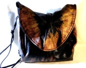 "1980's Carlos Faldi Artist Enhanced Leather Handbag""Shimmering Vintage"", One Of A Kind"