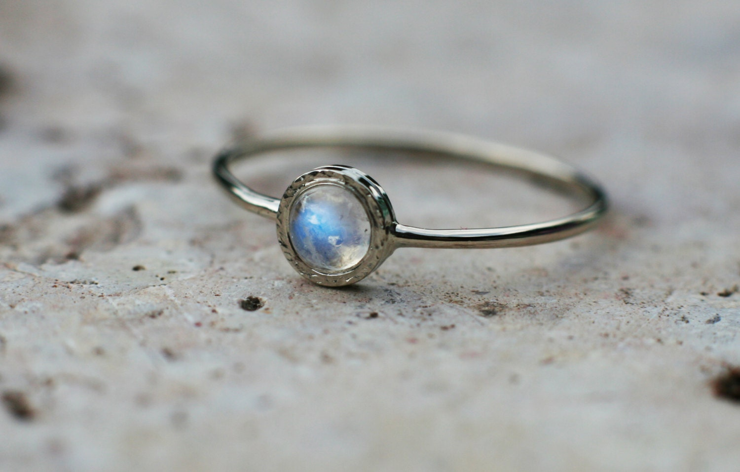 rainbow moonstone ring in 14k white gold moonstone engagement
