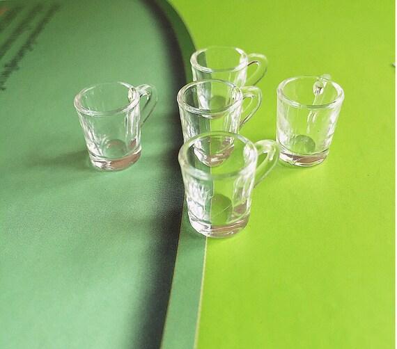 2/4/5pcs. Miniature Acrylic Mug Water Glass, Miniature Beer Mug,Miniature Water Glass,Dollhouse Glass,Miniature Mug,Dollhouse mug