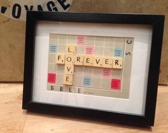 Vintage Scrabble Frame - Rectangle Frame