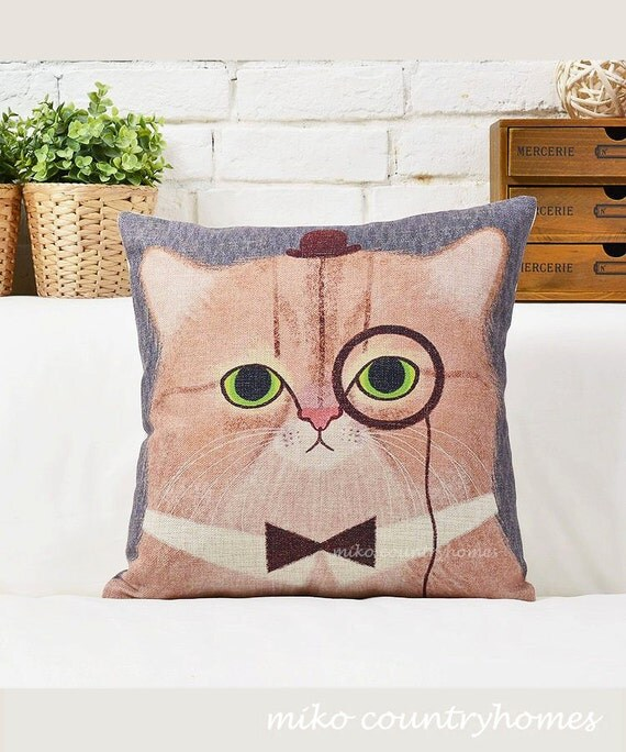 Funny Throw Pillow Covers : Throw Pillow Cover Fun Decorative Pillows by MikoCountryHomes