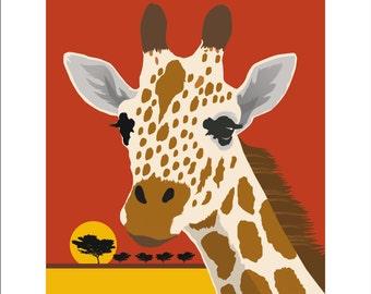 Giraffe Print, Giraffe Poster, Giraffe Art, Giraffe Painting, African Animal Print, African Animal Poster, African Art, Animal Poster