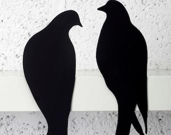 Designed Metal love  Birds -Laser cut birds