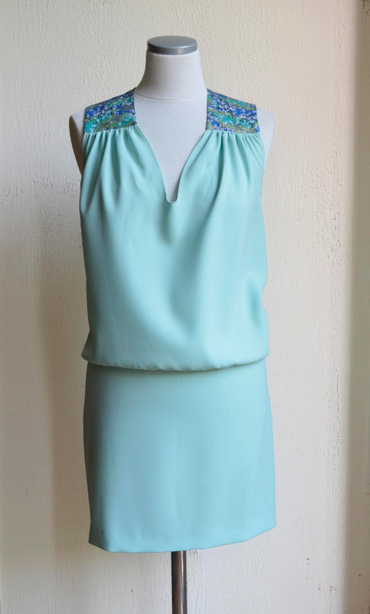 Robe d 39 t couleur vert d 39 eau aqua turquoise avec par - Couleur vert d eau ...