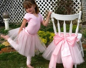 Convertible Pink Tutu Chair Skirt and Party Favor, Perfect for the Birthday Girl, Ballerina or Princess. Party favor sets.