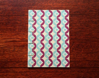 Japanese Bound A6 Notebook 'Pantalaimon' geometric pattern – 20 pages