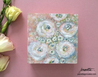 """Mixed Media Painting 6""""x6"""" on 2"""" Wood Panel"""