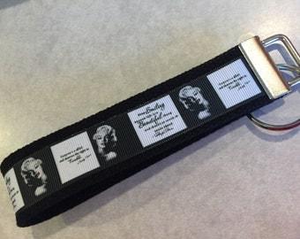 Marilyn Monroe Wristlet Keychain/Key Fob