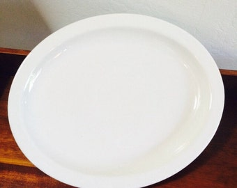 Homer Laughlin China, Restaurant White Stoneware Platter, Homer Laughlin Plate
