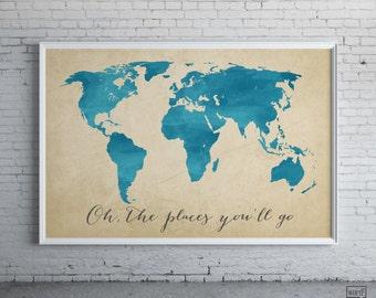 affiche carte monde rustique grande carte du monde carte. Black Bedroom Furniture Sets. Home Design Ideas