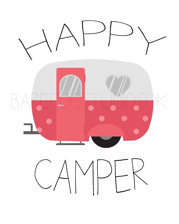 Happy Camper .. Vintage Camper Printable Wall by ...