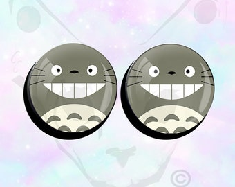 "Big Size Pair Kawaii Totoro Ear Plugs up to 50mm (2"")"