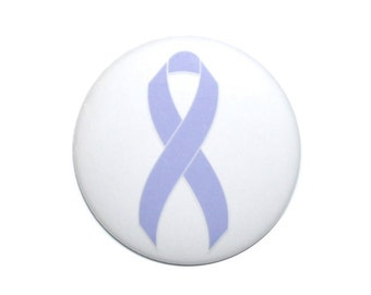 Esophageal Cancer Awareness ribbon Periwinkle ribbon awareness cancer support ribbon 2 1/4 inch button