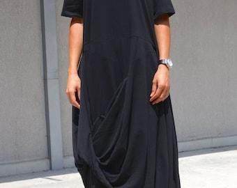 Asymmetric dress, kaftan maxi dress, long boho dress, long tunic dress, clothing for plus size women, loose dress, oversized draped dress
