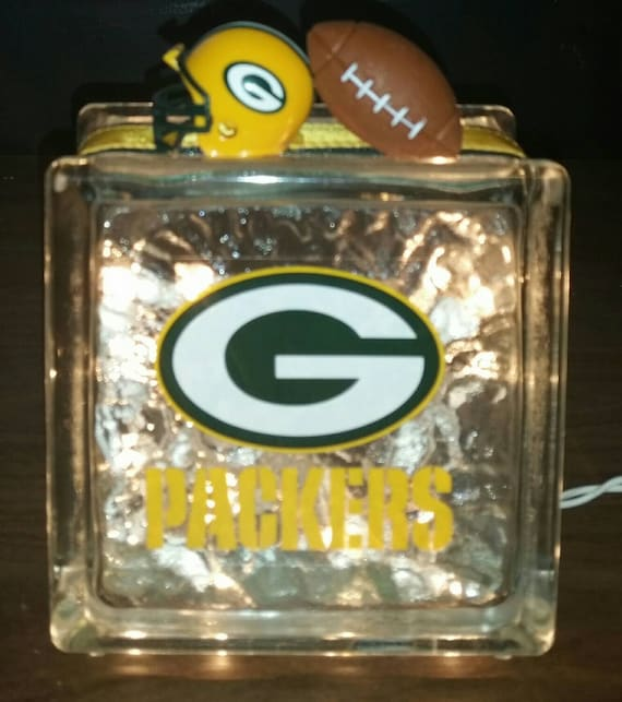 Items Similar To Green Bay Packers Lighted Glass Block