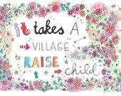 Kaart: It takes a village to raise a child