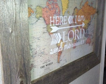 World Map with scripture detail