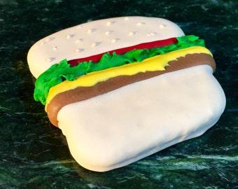 Gourmet Dog Treat: Homemade Cheeseburger Dog Cookie