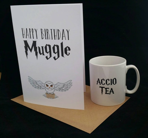 Items Similar To Harry Potter Themed Birthday Gift Mug And