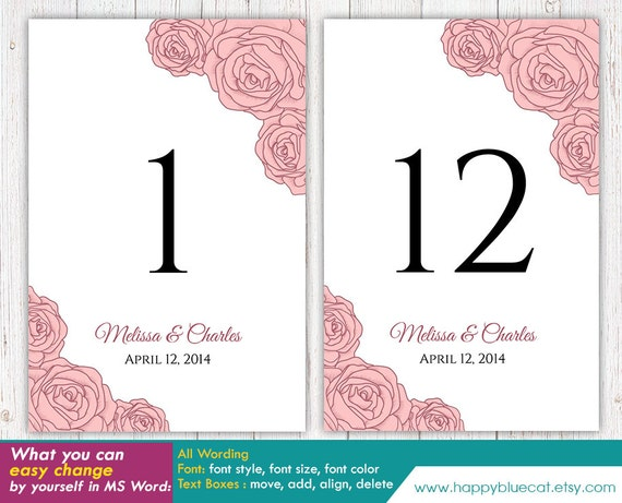 how to make table numbers in microsoft word