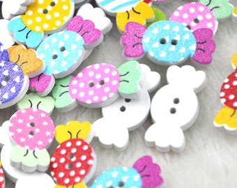 New 100pc Baby's Candy Button DIY Scrapbooking Appliques Craft WB232