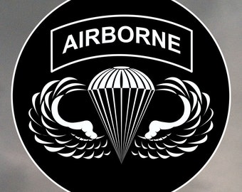 Airborne Sticker - Jump wings with airborne tab 0033