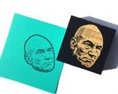 Patrick Stewart Portrait stamp