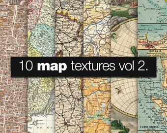 """Map digital paper: """"OLD WORLD MAPS"""" with antique maps of the world, europe, america, scandinavia"""