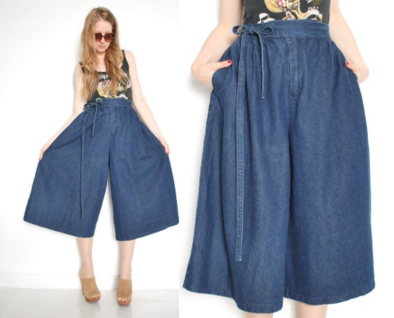 high waist gaucho pants - Pi Pants