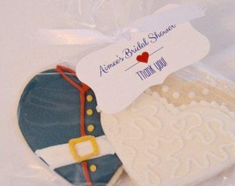 Bridal Shower Wedding Tags, Wedding Favor Tags, Wedding Tags, Custom Favor Tags  (FR-006)