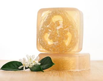 Jasmine Vanilla Loofah Soap, Glycerin Soap, Handmade Soap, Natural Soap, Jasmine Soap, Bar Soap