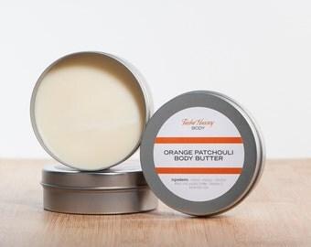 Men's Orange Patchouli Body Butter,Orange Body Butter,Handmade Body Butter,Men's Body Butter, Vegan Body Butter