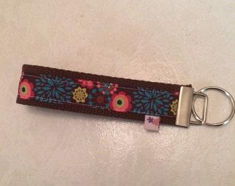 Flowers wrist key chain key fob