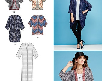 Simplicity Pattern 1108 Misses' Kimono's in Different Styles