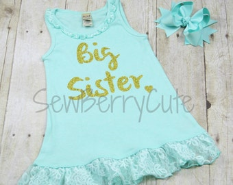 Big Sister Shirt Big Sis Shirt Pregnancy Announcement Baby Shower Gift