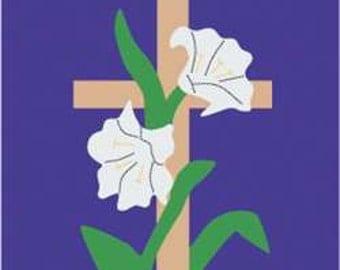 Easter Morning Handcrafted Applique Garden Flag