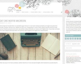 Responsive Blogger Premade Template - Amelia - Blog Design