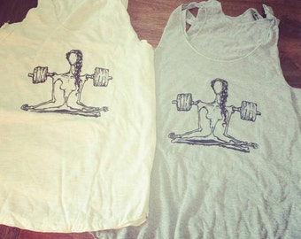 """Women's racerback tank top """"The Weightlifter """" - FREE Shipping"""
