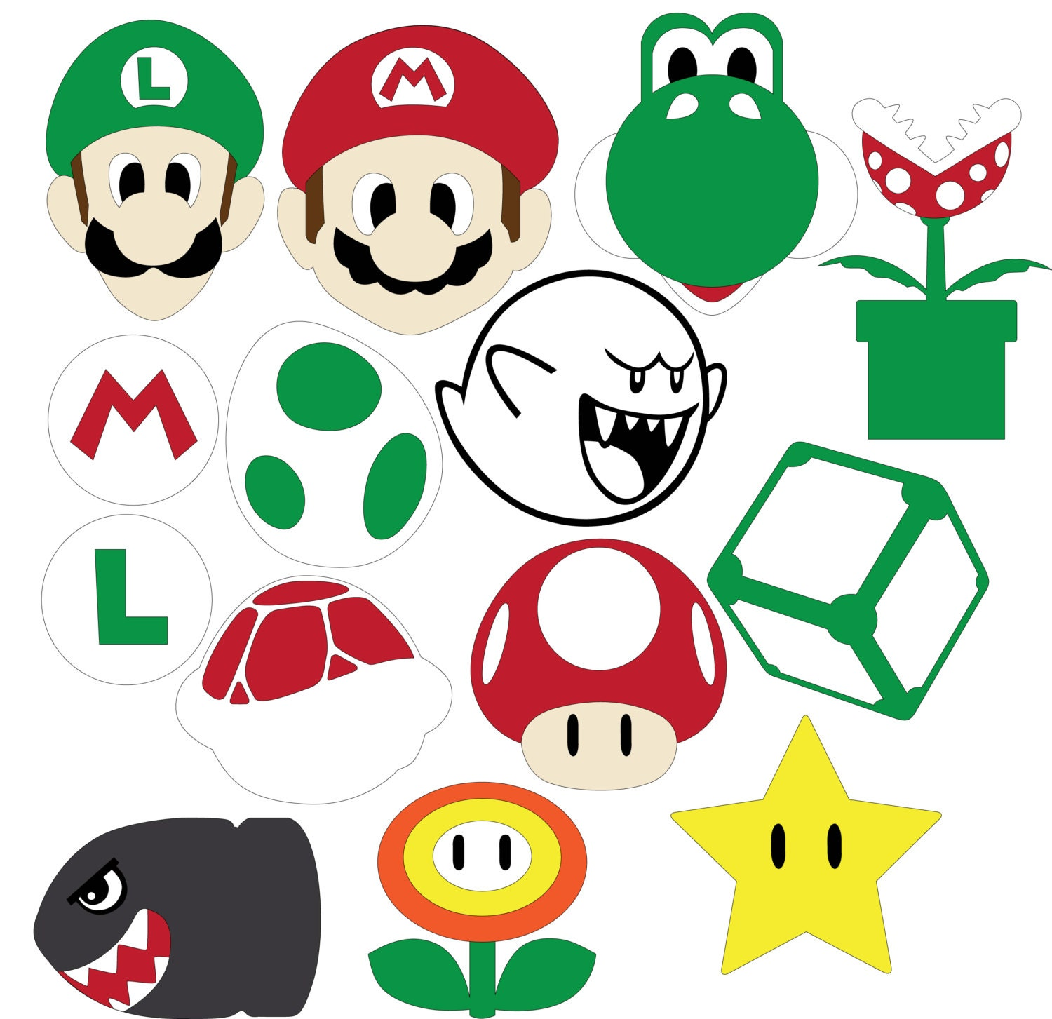 Mario Party Svg Amp Dxf Files From Hatchwork On Etsy Studio