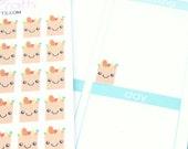 40 Kawaii Grocery Bag Stickers! For your Erin Condren Life Planner, Filofax, Kikkik, Plum Paper, other planner, scrapbooking! #SQ00105