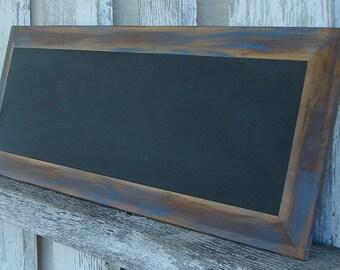 Chalkboard with blue trim