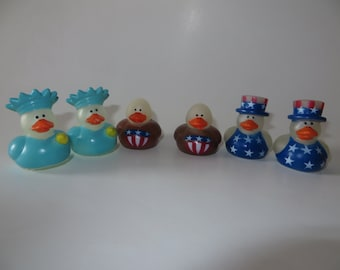 Patriotic Rubber Ducks - They glow in the dark! Uncle Sam, American Bald Eagle, Statue of Liberty - 4th of July celebrations