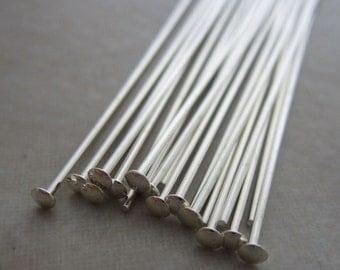 20 sterling silver headpins 2 inch 21 gauge