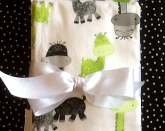 Baby Burp Cloth Set.  Set of 3 burp cloths made from premium 6 ply diapers and cotton fabric