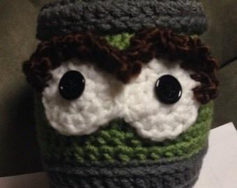 Crochet oscar the grouch hat