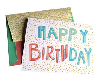 INSTANT DOWNLOAD Birthday Card Printable with DIY Envelope