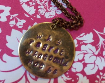 Why regret what could not be Les Miserables necklace