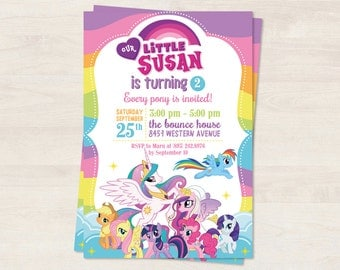 Personalized My Little Pony invitation (digital file)