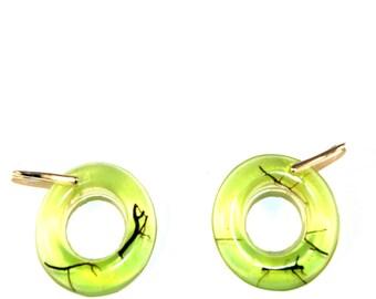 yellow and green earings